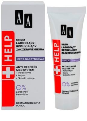 AA Cosmetics Help Dilated Capillaries die beruhigende Creme für empfindliche und gerötete Haut 1