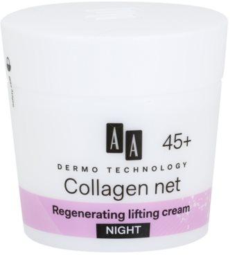 AA Cosmetics Dermo Technology Collagen Net Builder creme de noite regenerador com efeito lifting 45+