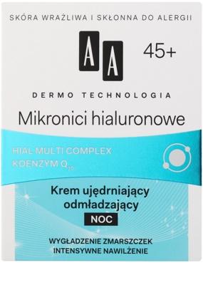 AA Cosmetics Dermo Technology Hyaluronic Microthreads omlazující a vyhlazující noční krém 45+ 2