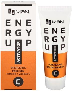 AA Cosmetics Men Energy Up energizujúci gél na tvár 1