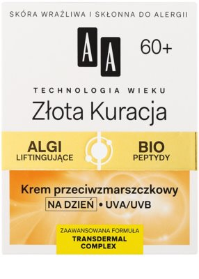 AA Cosmetics Age Technology Golden Therapy Tagescreme gegen Falten 60+ 2