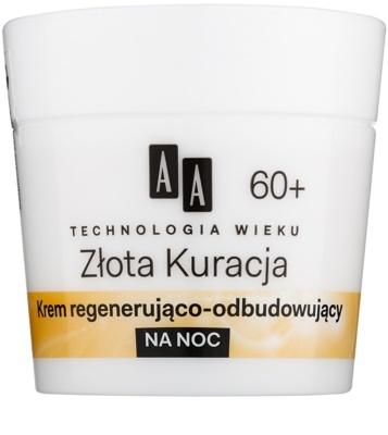 AA Cosmetics Age Technology Golden Therapy regenerierende Anti-Falten Creme für die Nacht 60+