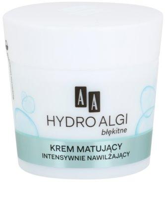 AA Cosmetics Hydro Algae Blue creme matificante com efeito hidratante