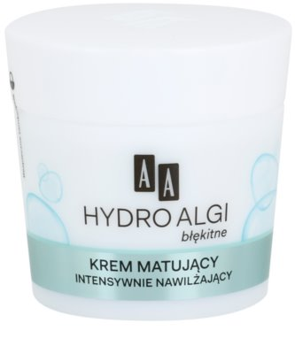 AA Cosmetics Hydro Algae Blue matirajoča krema z vlažilnim učinkom