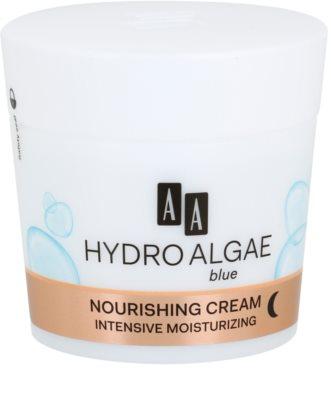 AA Cosmetics Hydro Algae Blue éjszakai tápláló krém hidratáló hatással