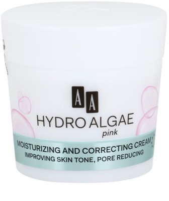AA Cosmetics Hydro Algae Pink krema za poenotenje kože za hidracijo kože in zmanjšanje por