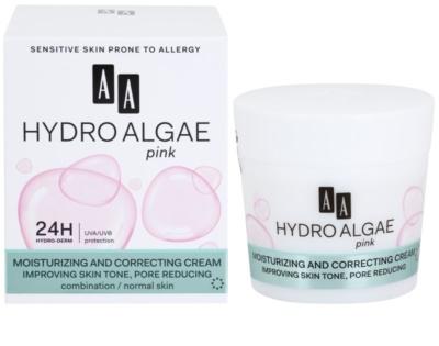 AA Cosmetics Hydro Algae Pink creme unificador para hidratar pele e minimizar poros 1