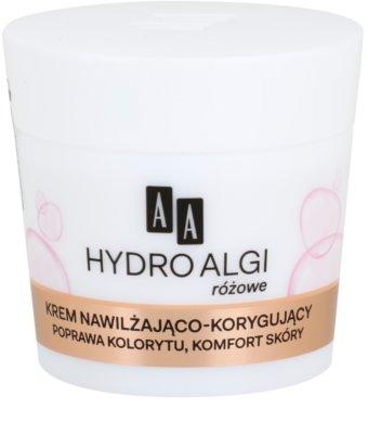 AA Cosmetics Hydro Algae Pink feuchtigkeitsspendende Creme für einheitliche Haut