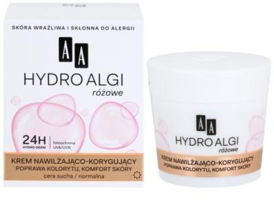 AA Cosmetics Hydro Algae Pink вирівнюючий зволожуючий крем 1