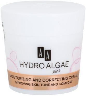 AA Cosmetics Hydro Algae Pink Korrekturcreme mit feuchtigkeitsspendender Wirkung