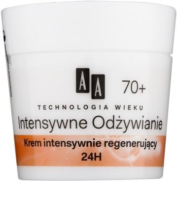 AA Cosmetics Age Technology Intensive Nutrition regenerierende Gesichtscreme gegen Falten 70+