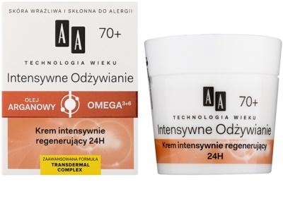 AA Cosmetics Age Technology Intensive Nutrition regenerační pleťový krém proti vráskám  70+ 1