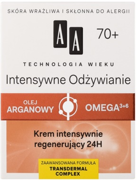 AA Cosmetics Age Technology Intensive Nutrition krem przeciwzmarszczkowy regenerujący 70+ 2