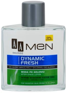 AA Cosmetics Men Dynamic Fresh osviežujúca voda po holení bez alkoholu