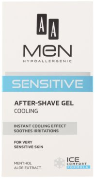 AA Cosmetics Men Sensitive gel racoritor after shave 2