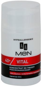 AA Cosmetics Men Vital 40+ sérum antirrugas com efeito regenerador