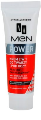 AA Cosmetics Men Power crema anti - rid 2 in 1 pentru fata si zona ochilor