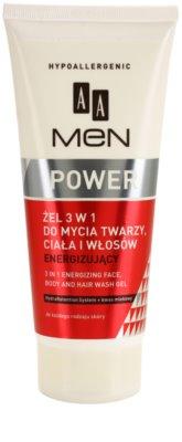 AA Cosmetics Men Power gel de dus pentru față, corp și păr