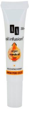 AA Cosmetics Oil Infusion2 Argan Marula 30+ creme contorno de olhos antirrugas com efeito hidratante