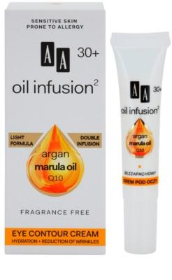 AA Cosmetics Oil Infusion2 Argan Marula 30+ crema contur pentru ochi cu efect de hidratare 1