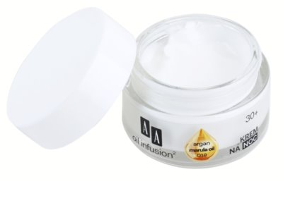 AA Cosmetics Oil Infusion2 Argan Marula 30+ creme de noite nutritivo com efeito antirrugas 1