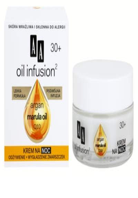 AA Cosmetics Oil Infusion2 Argan Marula 30+ nočný výživný krém s protivráskovým účinkom 2