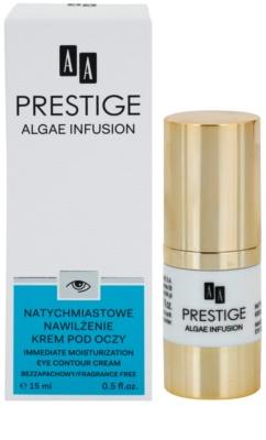 AA Prestige Algae Infusion rozjaśniający krem do okolic oczu o dzłałaniu nawilżającym 2