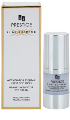 AA Prestige Lumi Supreme aufhellende Crem für die Augenpartien gegen Falten und dunkle Augenringe 2