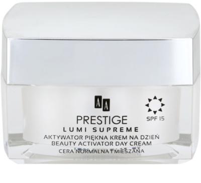 AA Prestige Lumi Supreme aktivní vyhlazující krém pro sjednocení tónu pleti SPF 15