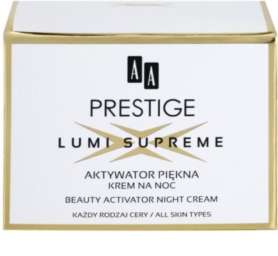 AA Prestige Lumi Supreme noční aktivní krém pro zkrášlení pleti 3