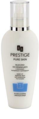 AA Prestige Pure Skin leite de limpeza para rosto e olhos
