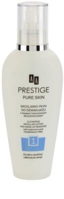 AA Prestige Pure Skin micelláris tisztító víz az arcra és a szemekre