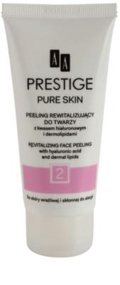 AA Prestige Pure Skin peeling revitalizant. cu acid hialuronic