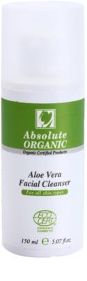 Absolute Organic Aloe Vera очищуючий гель для всіх типів шкіри