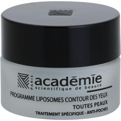 Academie All Skin Types gel suavizante para contorno de ojos para reducir la hinchazón