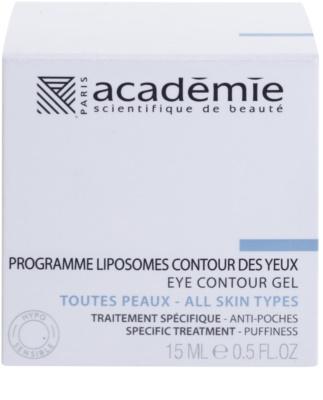 Academie All Skin Types gel pentru ochi de netezire impotriva ochilor umflati 2