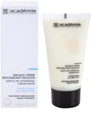 Academie All Skin Types mascarilla cremosa suave con efecto humectante 1