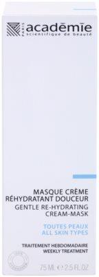 Academie All Skin Types mascarilla cremosa suave con efecto humectante 2