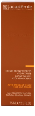 Academie Bronz' Express samoopalovací krém na obličej s hydratačním účinkem 2