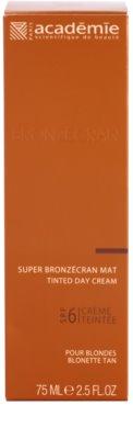 Academie Bronzécran mattosító tonizáló krém SPF 6 2