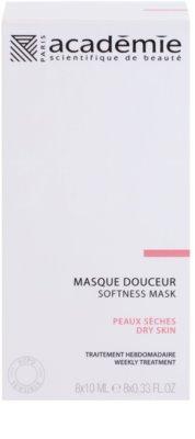 Academie Dry Skin výživná a zklidňující pleťová maska 2