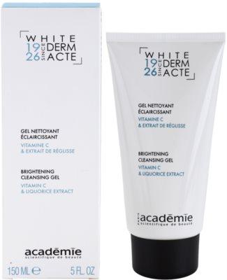 Academie Derm Acte Whitening gel limpiador para iluminar la piel 1