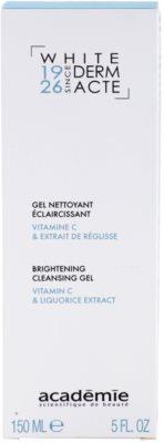Academie Derm Acte Whitening gel limpiador para iluminar la piel 2