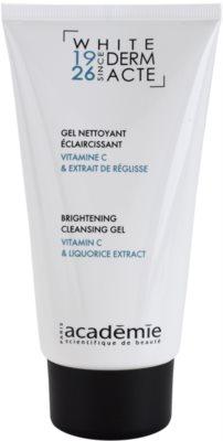 Academie Derm Acte Whitening gel limpiador para iluminar la piel