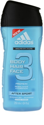 Adidas 3 After Sport gel de duche para homens