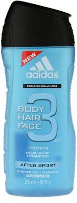 Adidas 3 After Sport sprchový gél pre mužov