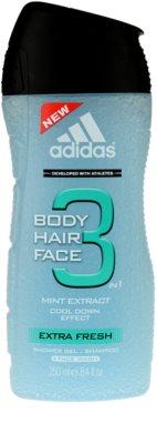 Adidas 3 Extra Fresh gel de duche para homens