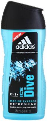 Adidas Ice Dive gel de duche para homens