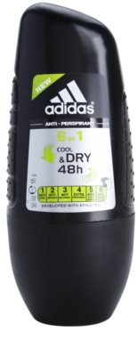 Adidas 6 in 1 Cool & Dry deodorant Roll-on para homens