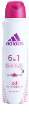 Adidas 6 in 1  Cool & Care dezodorant w sprayu dla kobiet